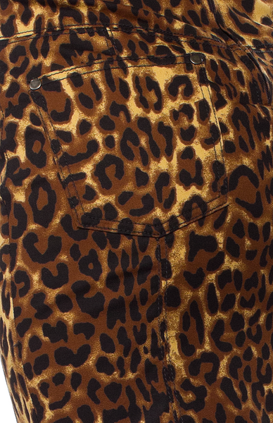 Leopard Print Pocket Pencil Skirt