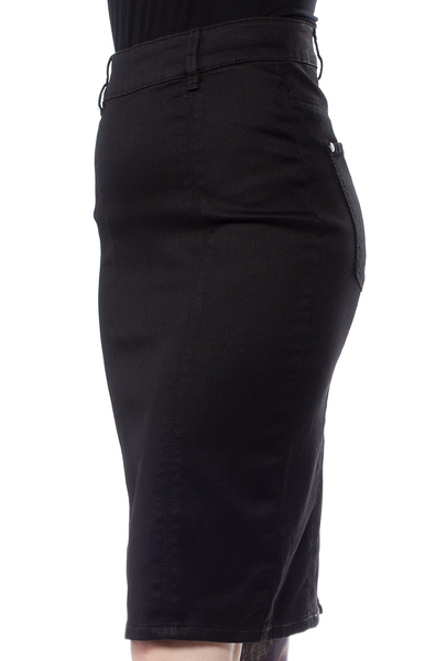 Black Pencil Pocket Skirt