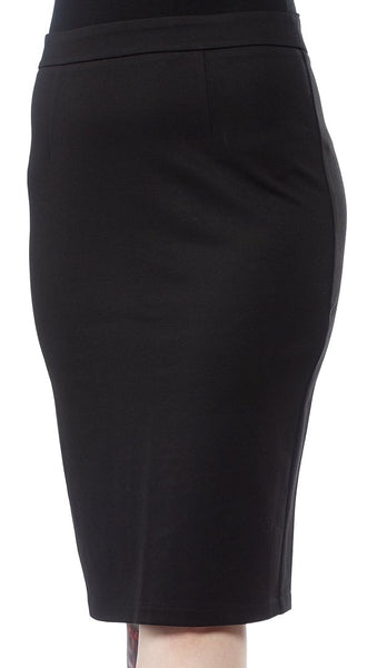 Pencil Knit Skirt in Black