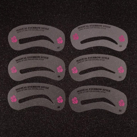 Eyebrow stencils Kit - 24 Styles Grooming Stencil Kit Makeup Tool