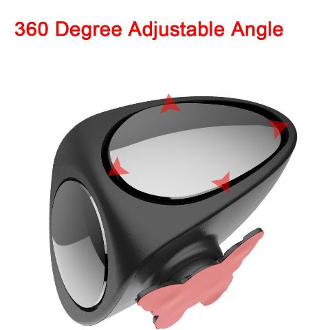 Car Blind Spot Mirror Wide Angle 360 Rotation Adjustable Convex Rear View Mirror