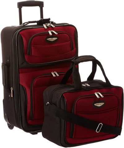 Traveler's Choice Two Piece Carry On Luggage Set