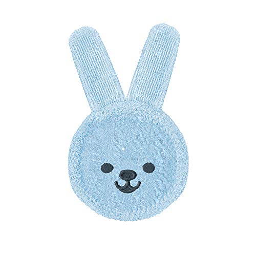 MAM Baby Oral Care Cleaning Cloth (1 Count), Rabbit Microfiber Teether Gum Cleaner Cloth For Newborns, For Teething Newborn Babies 0+ Months, Boy