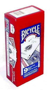 Bicycle Poker Size Standard Index Playing Cards, 9 Deck Player's Pack