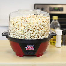 Load image into Gallery viewer, West Bend 82505 Stir Crazy Electric Hot Oil Popcorn Popper Machine with Stirring Rod Offers Large Lid for Serving Bowl and Convenient Storage, 6-quart, Red