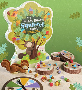 Educational Insights 3405 The Sneaky, Snacky Squirrel Game, Multicolored