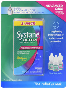 SYSTANE ALCON Ultra Lubricant Eye Drops 3 X 10 ML, 30 Milliliter - Saveinstant