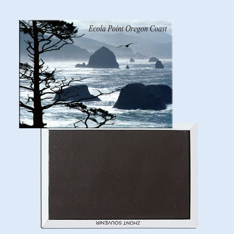 Ecola Point, Oregon Coast, Magnetic refrigerator stickers, souvenirs, small gifts 24757 - Oregon Art & Apparel