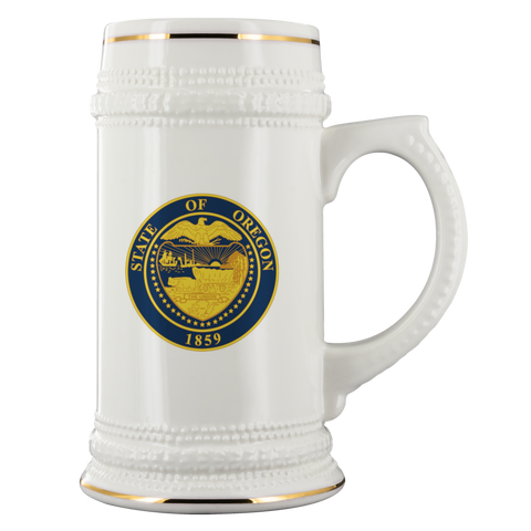 Oregon State Seal Stein - Oregon Art & Apparel