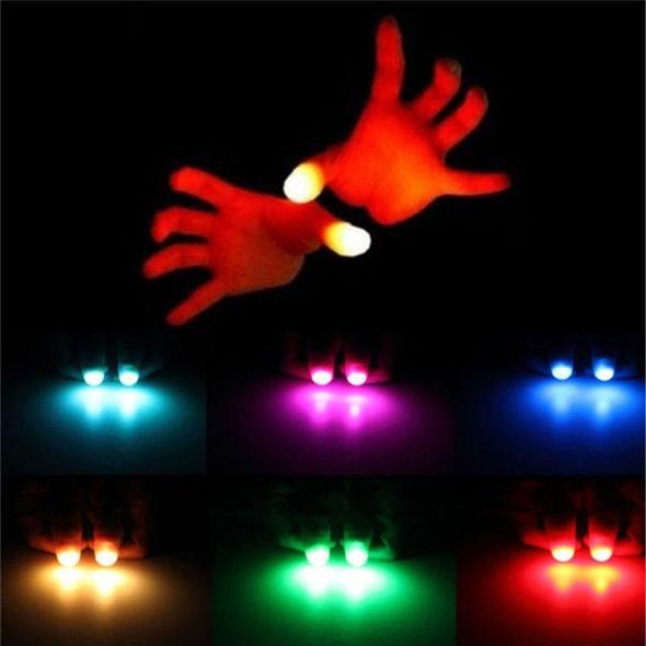 [Hot Selling 200,000 Items]LED Finger Lamp 7 Modes Flashing Rave