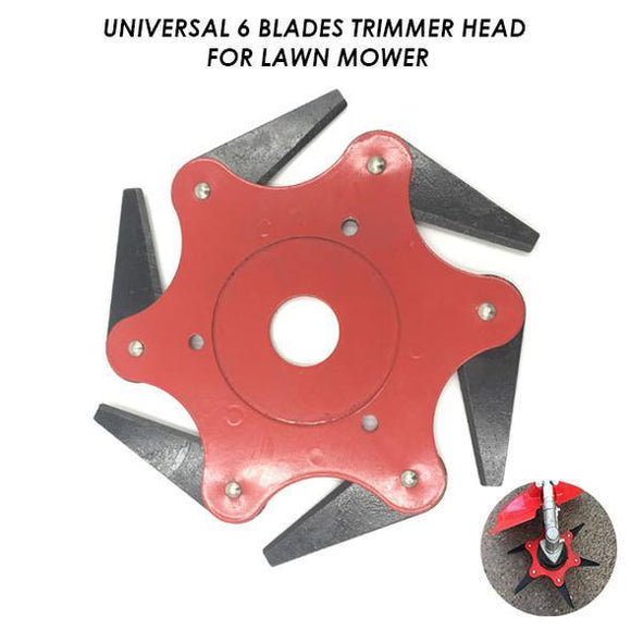 Universal 6 Blades Trimmer Head for Lawn Mower