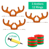 (Holiday SALE - 50% OFF) Reindeer Antler Ring Toss Game