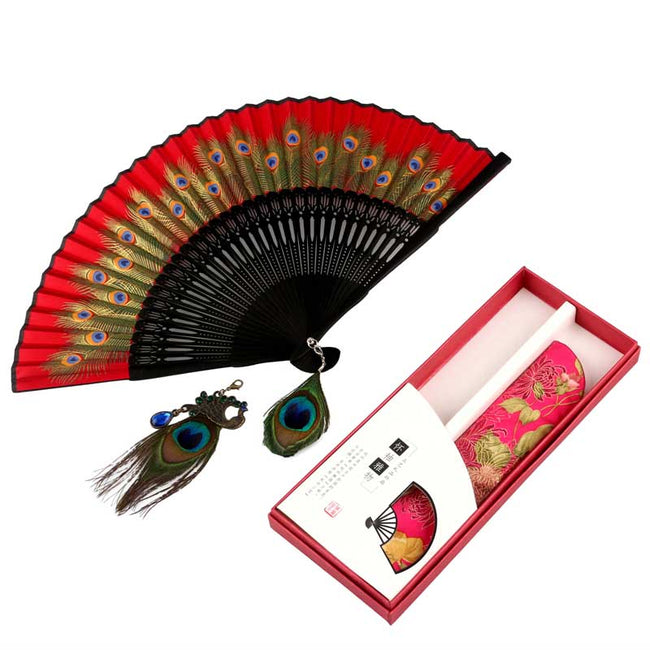 Chinese_Feather_Fan_Red