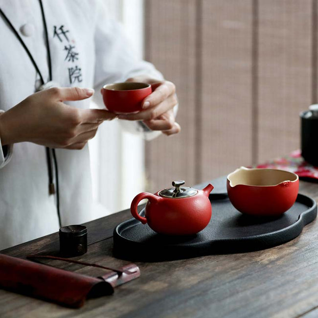 Chinese_Red_Ceramic_Tea_Set_with_Persimmon_Shaped_02