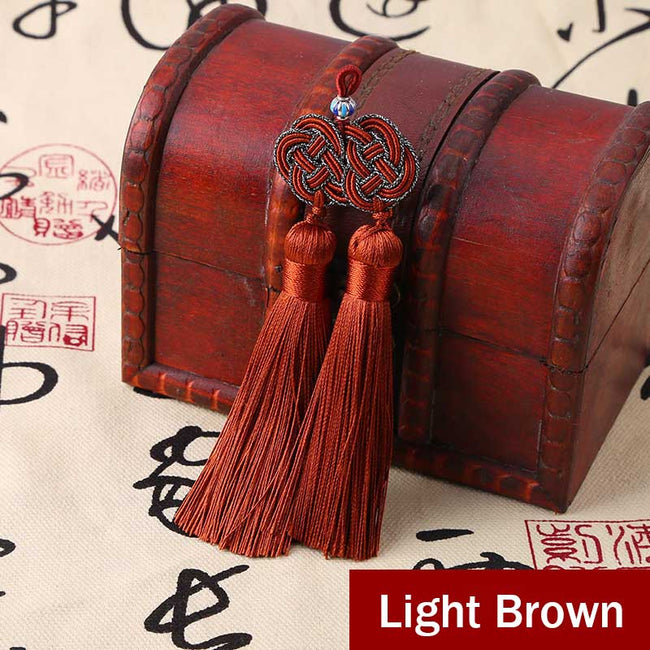 Double_Coin_Knot_Bookmark_Tassels_Light_Brown