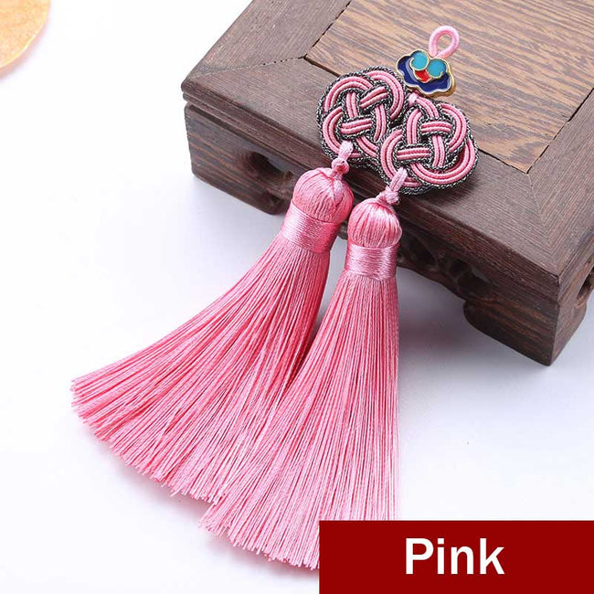 Double_Coin_Knot_Bookmark_Tassels_Pink