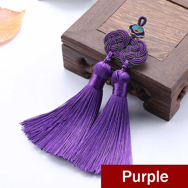 Double_Coin_Knot_Bookmark_Tassels_Purple
