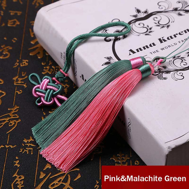 Lucky_Charm_Beaded_Tassels_Pink&Malachite_Green