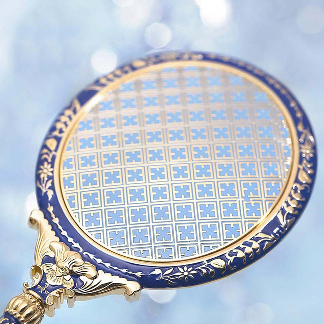 Vintage_flower_embellished_compact_makeup_mirror_Blue_02