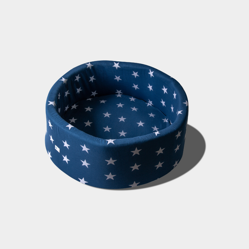 White Star on Navy Blue -