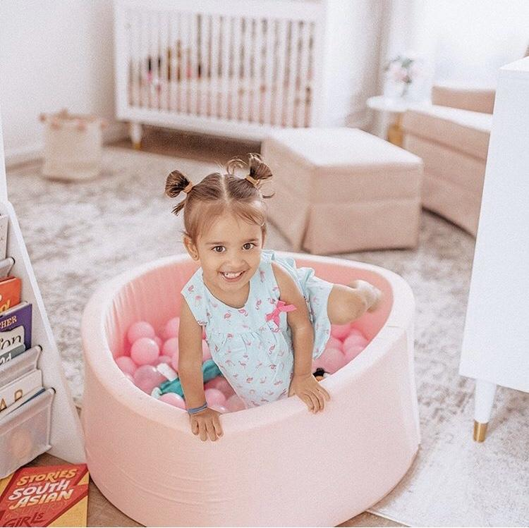 Classic Pink Bundle - Ball Pit + 200 Pit Balls Included - Little Big Playroom