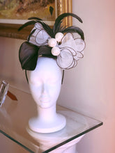 White and Black Calla Lily Fascinator Derby Hat