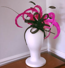Black and Pink Jewel Fascinator Derby Hat