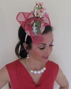 Special Edition Pink Breast Cancer Awareness Fascinator Derby Hat