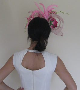Pretty in Pink Rose Fascinator