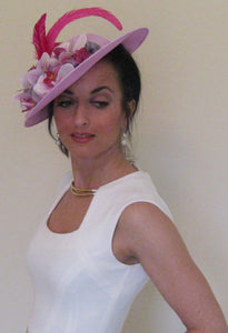 Lavender Orchid Fascinator Derby Hat