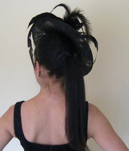 Pink Pearl Black Fascinator Derby Hat
