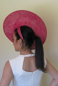 Large Pink Lily Fascinator with Pink Accents Derby Hat