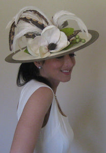 Neutral Derby Hat with Magnolia Ivory Accents