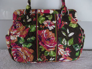 Vera Bradley English Rose Frame Shoulder Bag