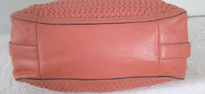 COACH 23885 SALMON MAGGIE MADISON WOVEN LEATHER SHOULDER BAG