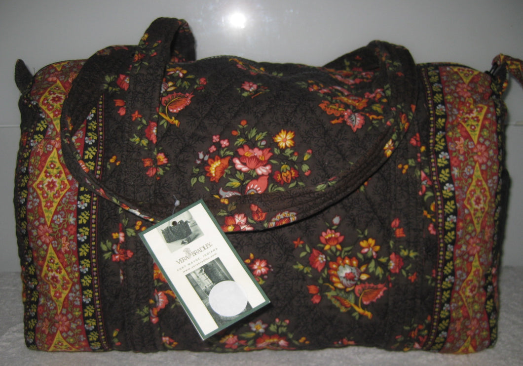 Vera Bradley Chocolat Small Duffel Travel Bag
