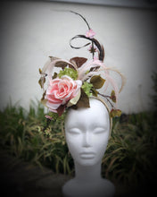 Pastel Pink Rose Cherry Blossom Fascinator Derby Hat