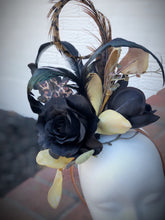 Black Blossom Animal Print Fascinator Derby Hat