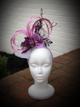 Lavender Blossoms Fascinator Derby Hat