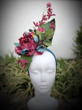 Burgundy and Teal Fascinator Derby Hat Fascinator