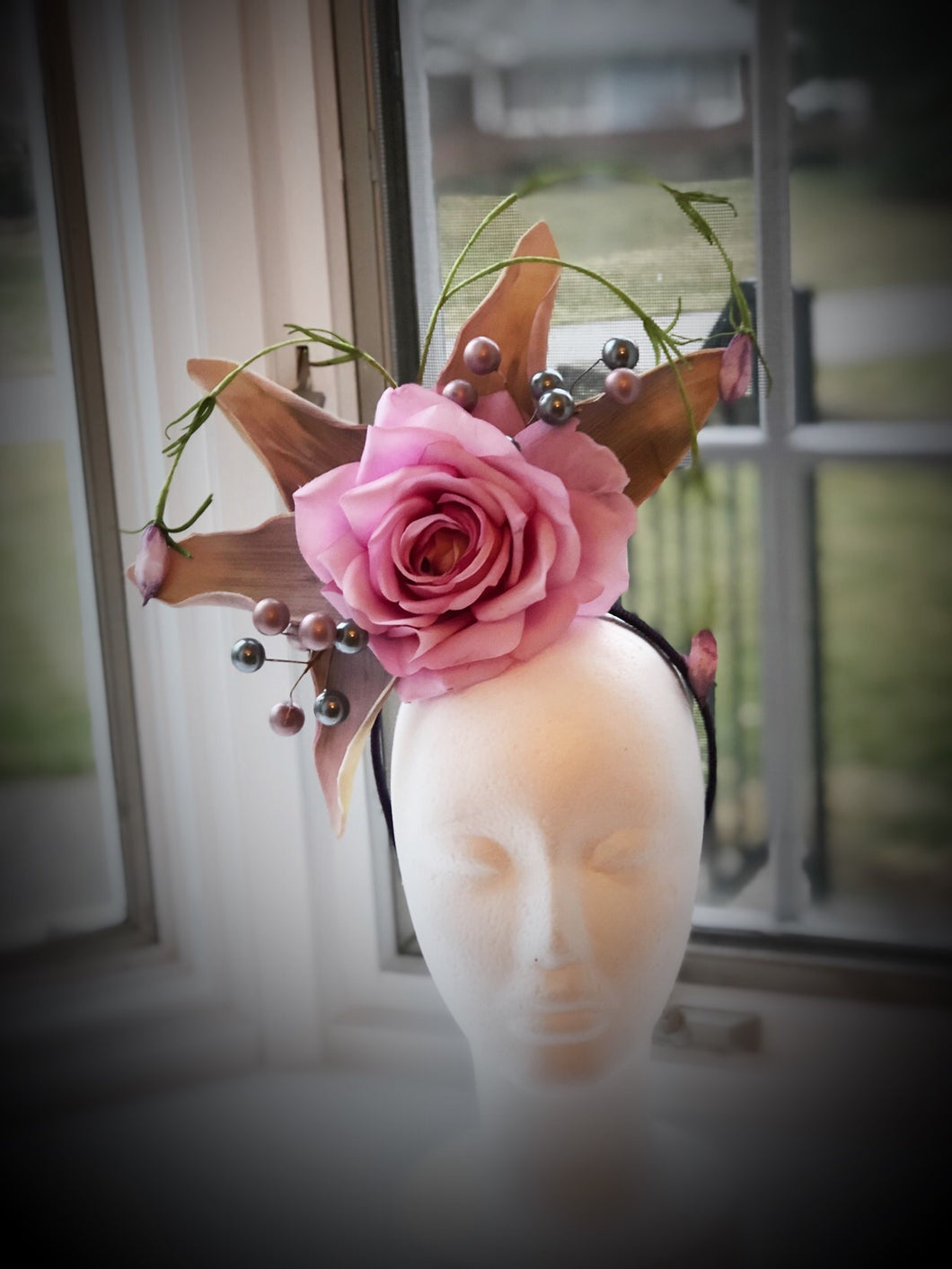 Lavender Rose Fascinator Derby Hat Fascinator