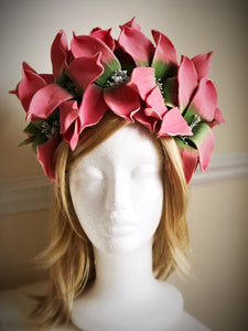 Coral Crown Style Fascinator Derby