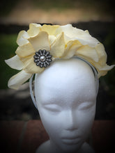 White Crown Style Fascinator Derby Hat Bridal