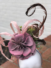 Large Dusty Pink Large Fascinator Derby Hat