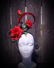 Run For The Roses Floral and Feather Fascinator Derby Hat