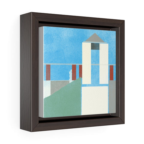 Postmodern - Square Framed Premium Gallery Wrap Canvas