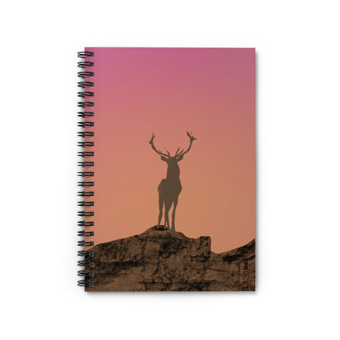 Deer Image - Spiral Notebook - Ruled Line