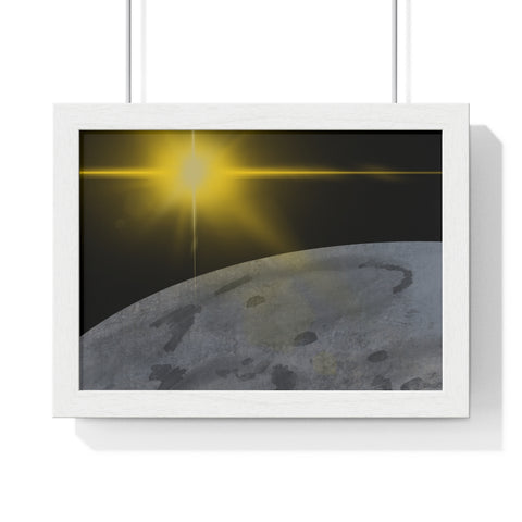 Moonscape - Premium Framed Horizontal Poster