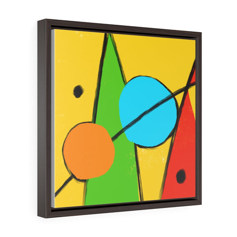 Abstract - Square Framed Premium Gallery Wrap Canvas