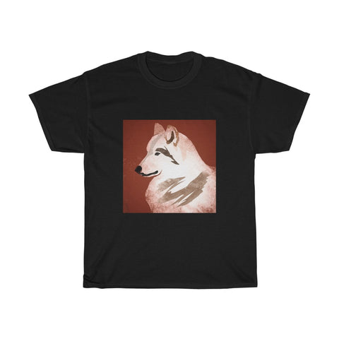 Wolf dog  - Unisex Heavy Cotton Tee